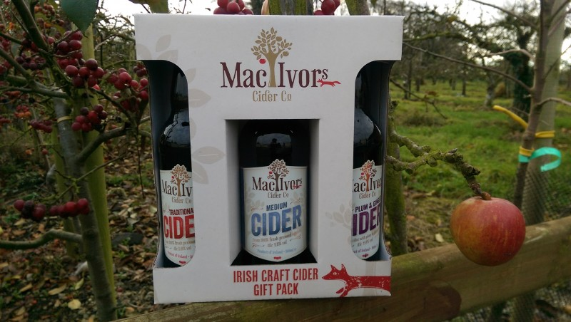 Traditional, Medium and Plum and Ginger Cider - Irish Craft Cider by Mac Ivors Cider Co - Special Christmas Gift Packs are now available in off licenses around Northern Ireland