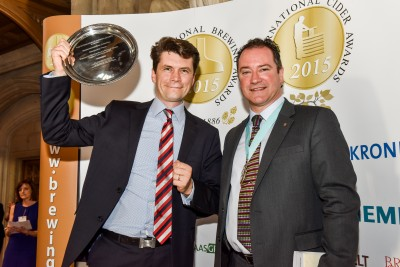 Mac Ivors Cider Co Wins Champion Cider in 2015 - Greg MacNeice picked up the award and is hoping to have the same success in 2017 International Cider and Brewing Awards