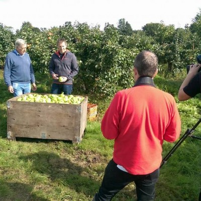 It's harvest season in Coun ty Armagh and Irish cider producer Greg MacNeice welcomes BBC NI Home Ground team to the orchards at Ardress.