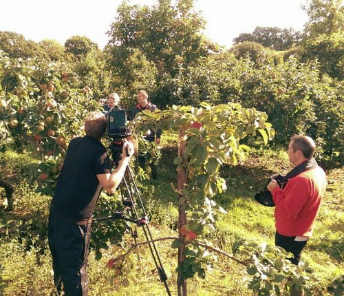 Irish cider producer Greg MacNeice welcomes the team from BBC NI Home Ground to his orchards at Ardress, Co Armagh