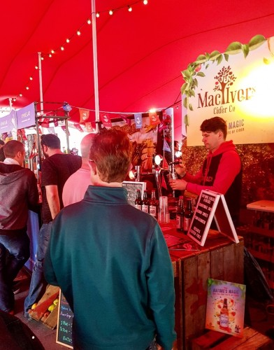 Greg pouring delicious ciders at Belfast Craft Beer Festival